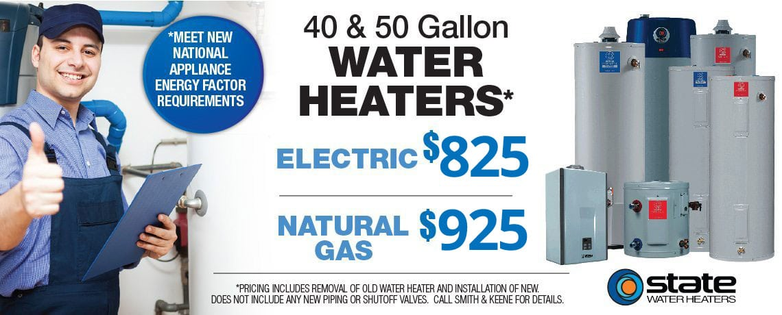 Smith & Keene State Water Heater Offer Details