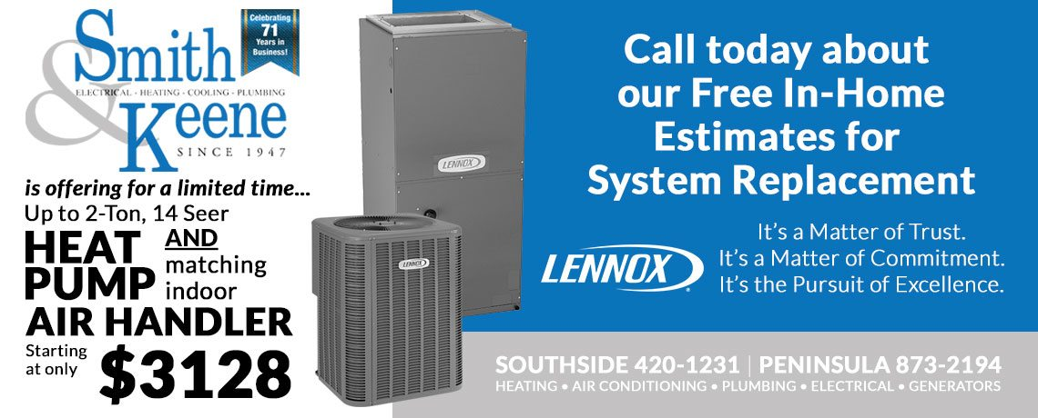 Smith & Keene Heat Pump and Air Handler Special Offer Details