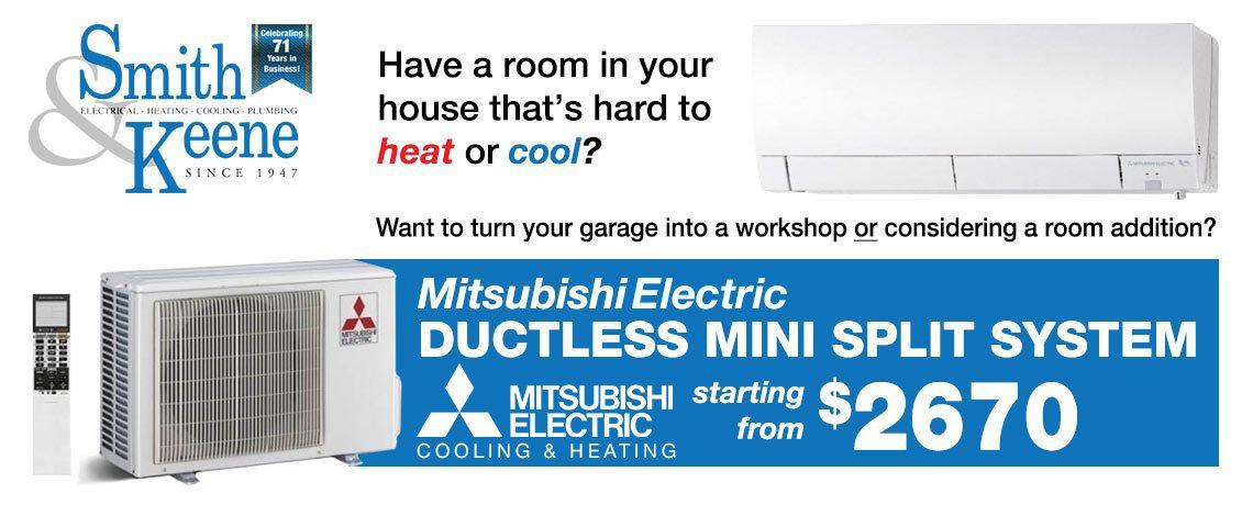Mitsubishi – Ductless Mini Split System