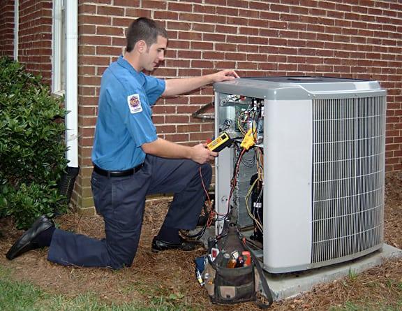 HVAC Technician Repairing System